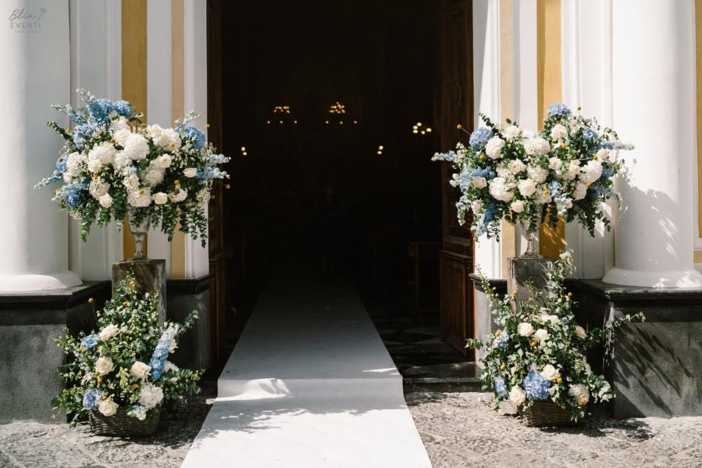allestimento floreale chiesa